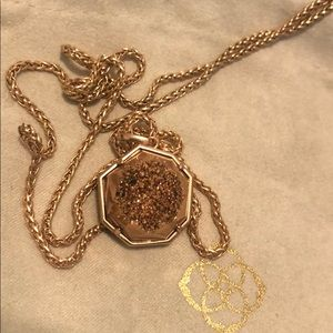 Kendra Scott druzy necklace in rose gold